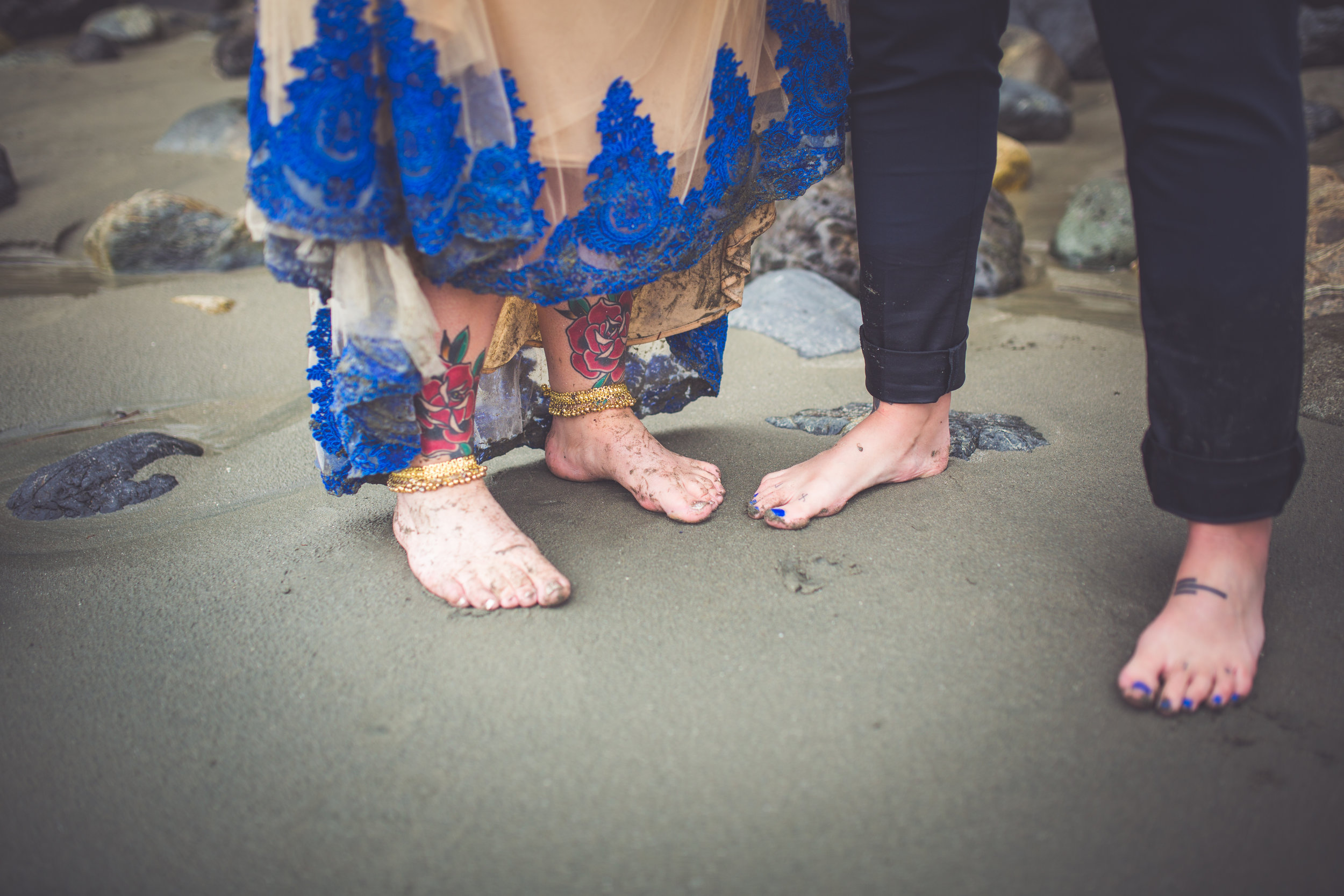 same sex beach wedding Vancouver Island