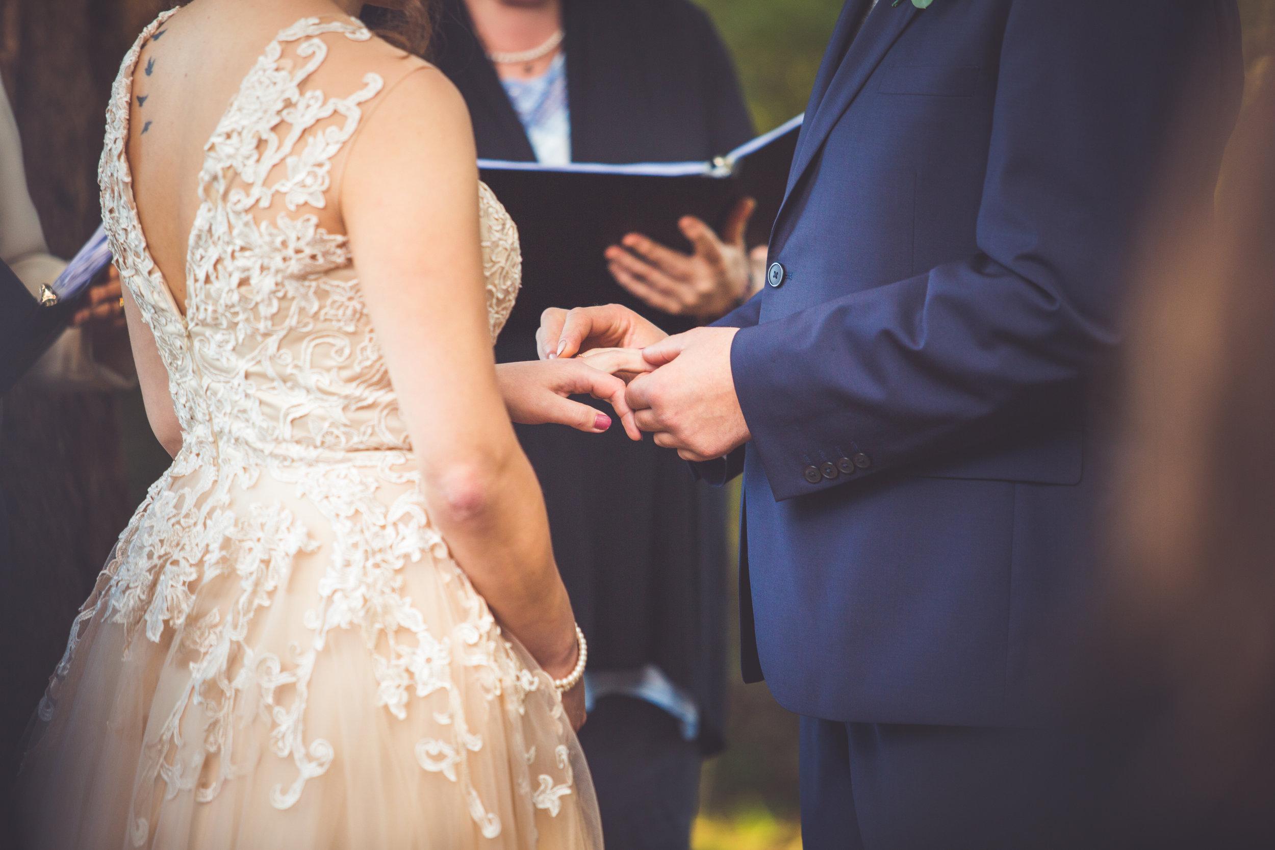rathtrevor beach parksville wedding exchange of rings