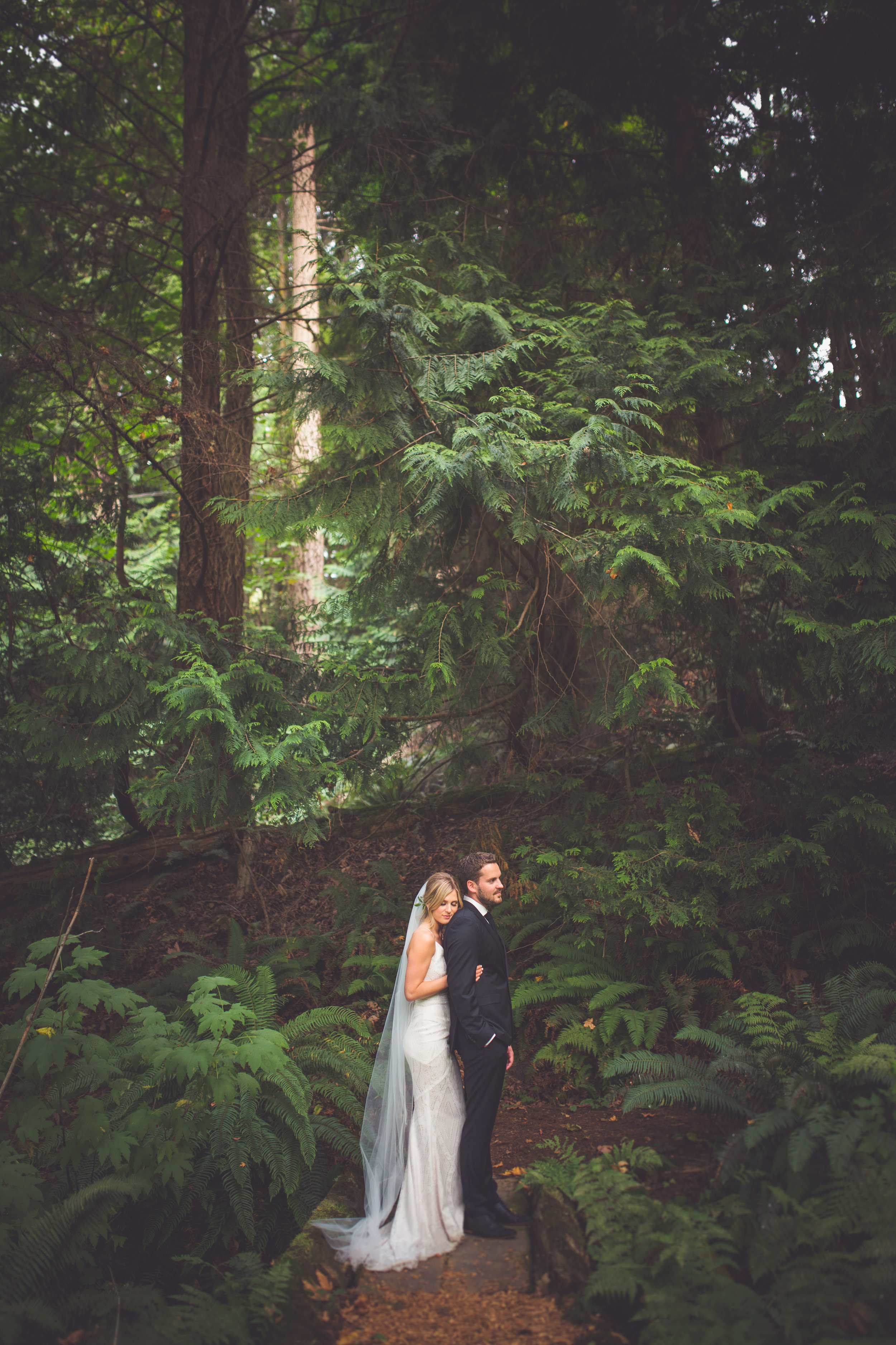 forest wedding in Qualicum Beach on Vancouver Island