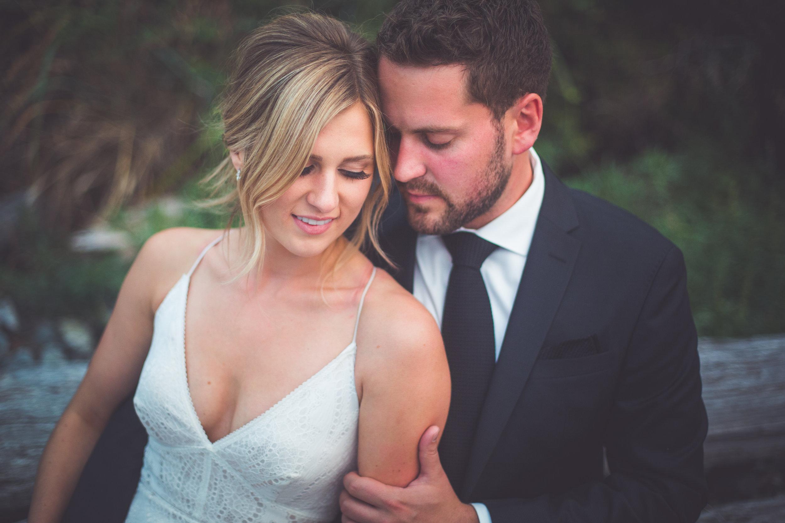 romantic wedding images in Qualicum Beach