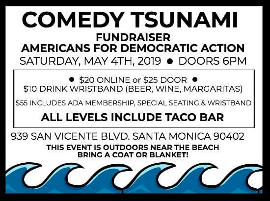 #ComedyForACause 📢 💥PERFORMERS💥 Rick Overton * Ron Placone * Tracy Newman Raja Michael * Lenny Shelton * Rebecca Leib Kim Mulligan * Hanna Finebinder Derrick Lemos * The Billionaires * David Lucky 💥SPECIAL GUESTS💥 Ed Begley Jr. & Mike Farrell & more! 💥TICKETS💥 $20 online OR $25 at the door $10 bar wristband (beer/wine/margs) $55 includes ADA membership, wristband, and special seating ➡ ALL LEVELS INCLUDE TACO BAR ACCESS 😍  #ADASoCal #Community #Fundraiser #Comedy #Organize #CAforProgess