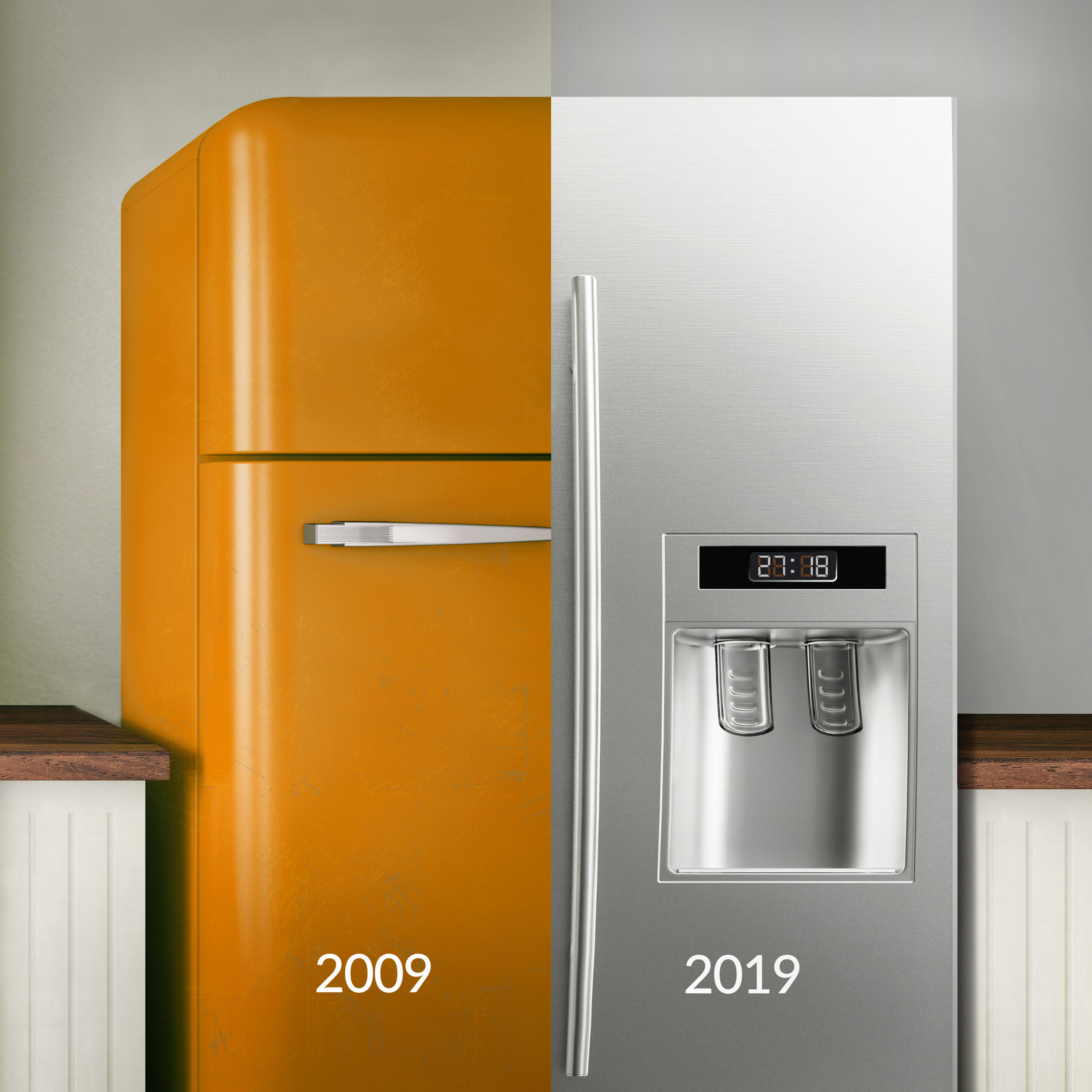 Here's our 10-year challenge! We think it's pretty chill. ❄️❄️ But you know what's even more chill? Upgrading your appliances to be more energy efficient. ⚡️  #EnergyEfficient   #SaveEnergy  #California   #10YearChallenge