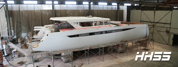 First 55 HH Catamarans is thrilled to share the latest progress on our newest offering, the HH55. The exterior is currently being prepped for paint and interior fit out is well underway. Best laid plans have this fantastic yacht in the water early next year, not quite in time to join 66-03 for our US debut at the Strictly Sail Miami show in February, but hopefully early enough to make the tail end of the Caribbean season for some racing action and fun in the sun - stay tuned!