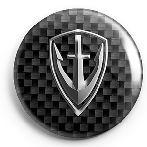 HYG Shield Badge Silver carbon fiber 300pxl.png