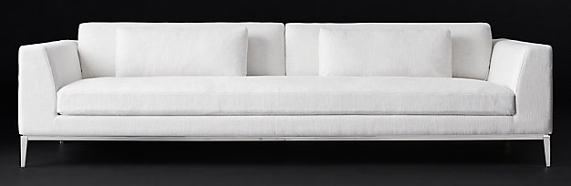 B. Designer-esque Sofa  -  Italia Taper Arm Sofa   Manufacturer & Retail Representative:  Restoration Hardware