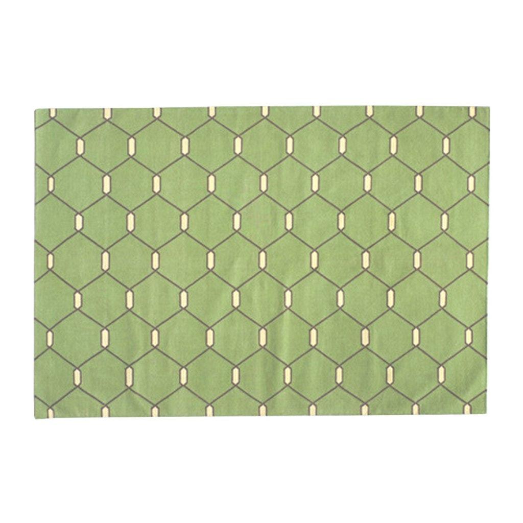 Madeline Weinrib, Green Chi Chi Kari Cotton Carpet  (Found at ABC Carpet & Home)