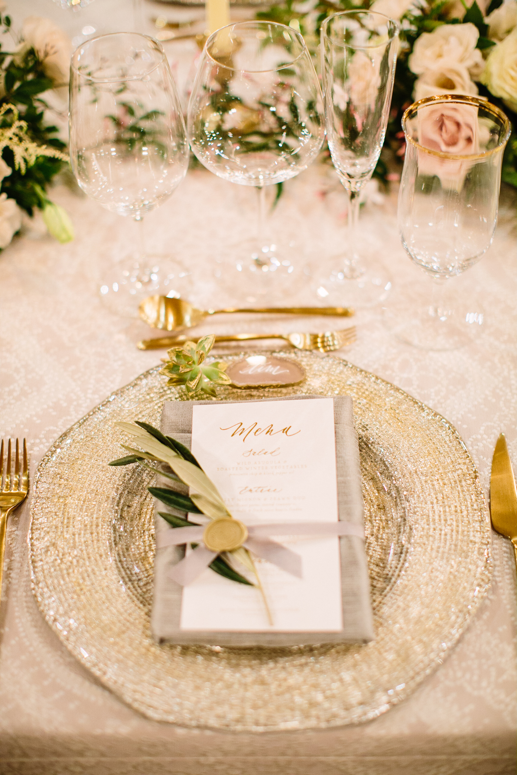 Photography: Birds of  Feather, Planning: Charmed Events, Florals: Tango and Foxtrot Florals, Linens: La Tavola Fine Linen