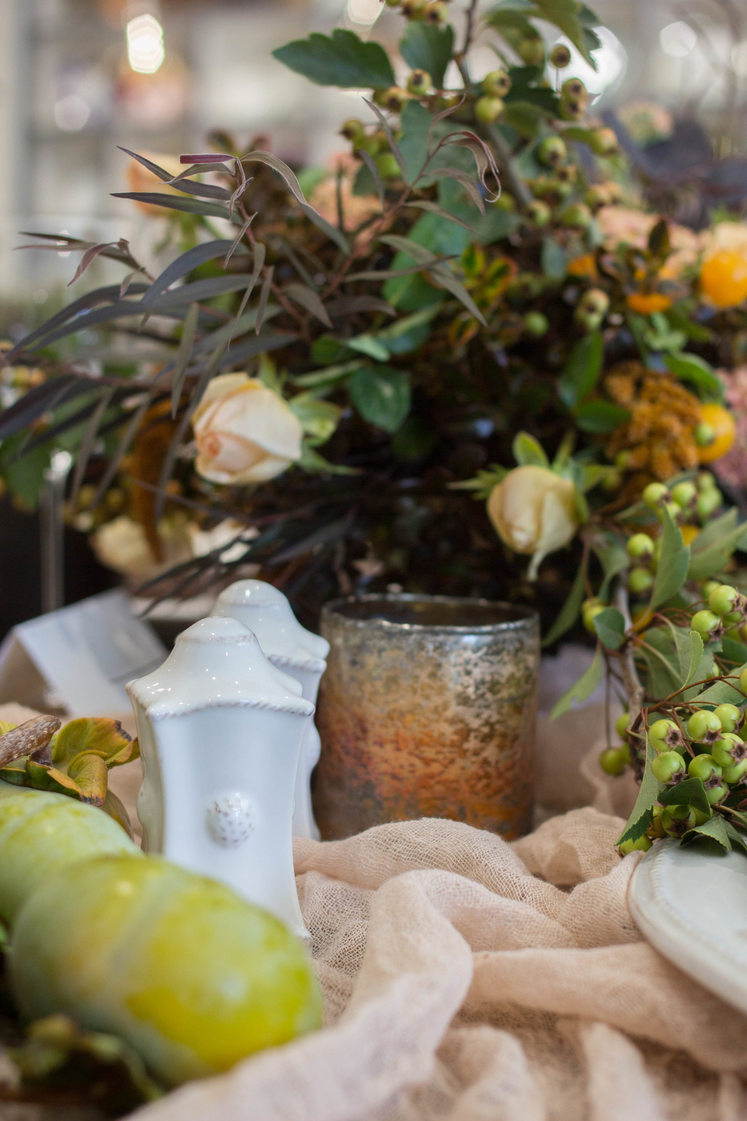 fall inspired table details