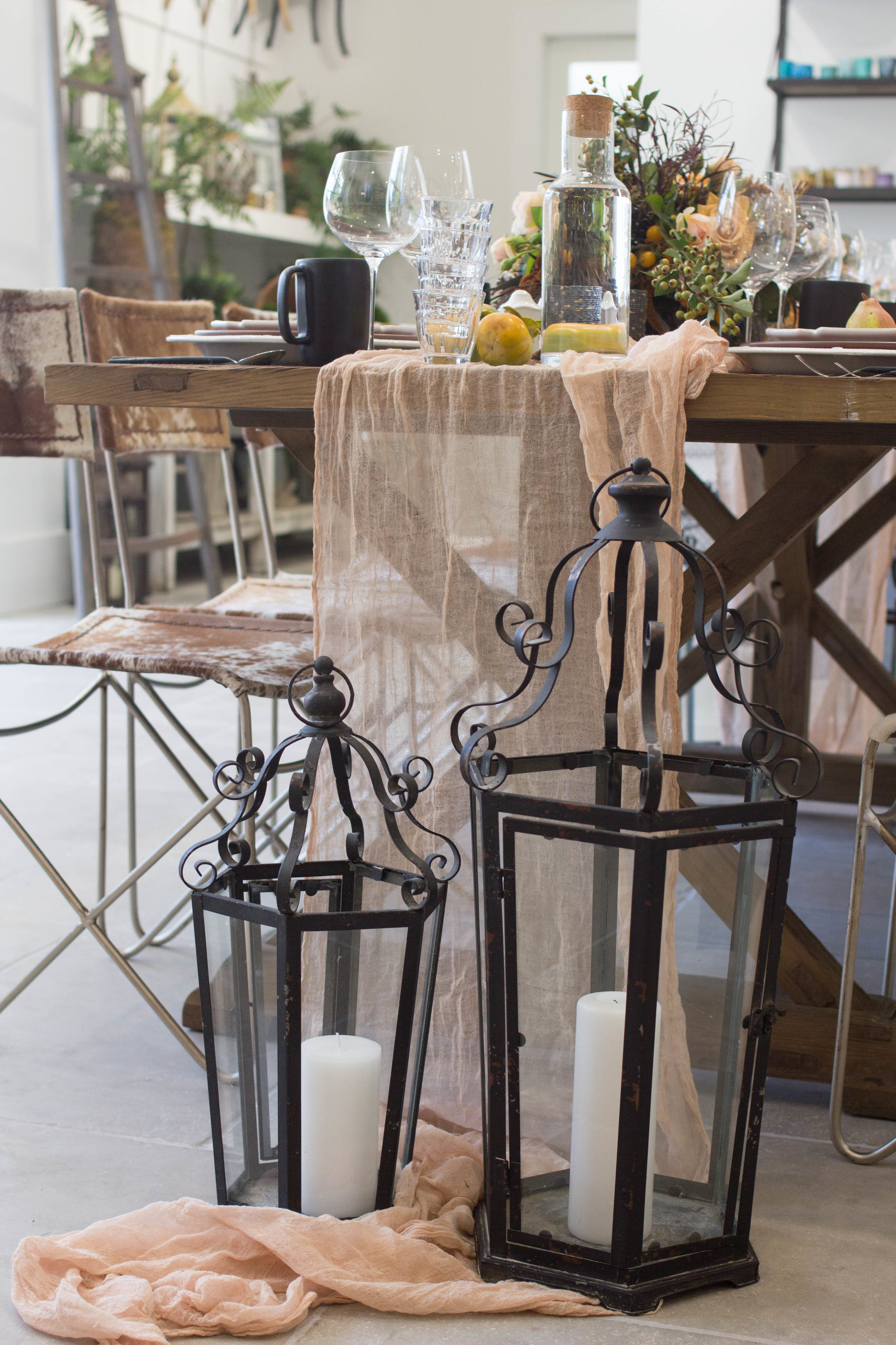 fall inspired table lanterns theoni collection