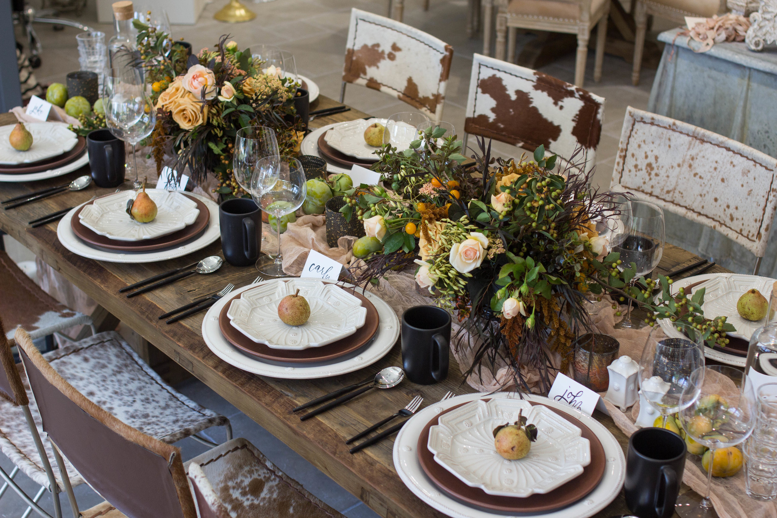 A Fall Inspired Table at Theoni Collection