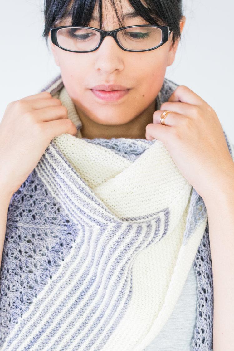 Free shawl pattern  here.