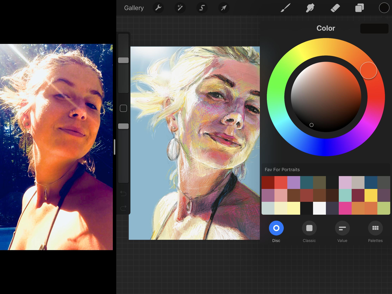 faith dartily artist color palette