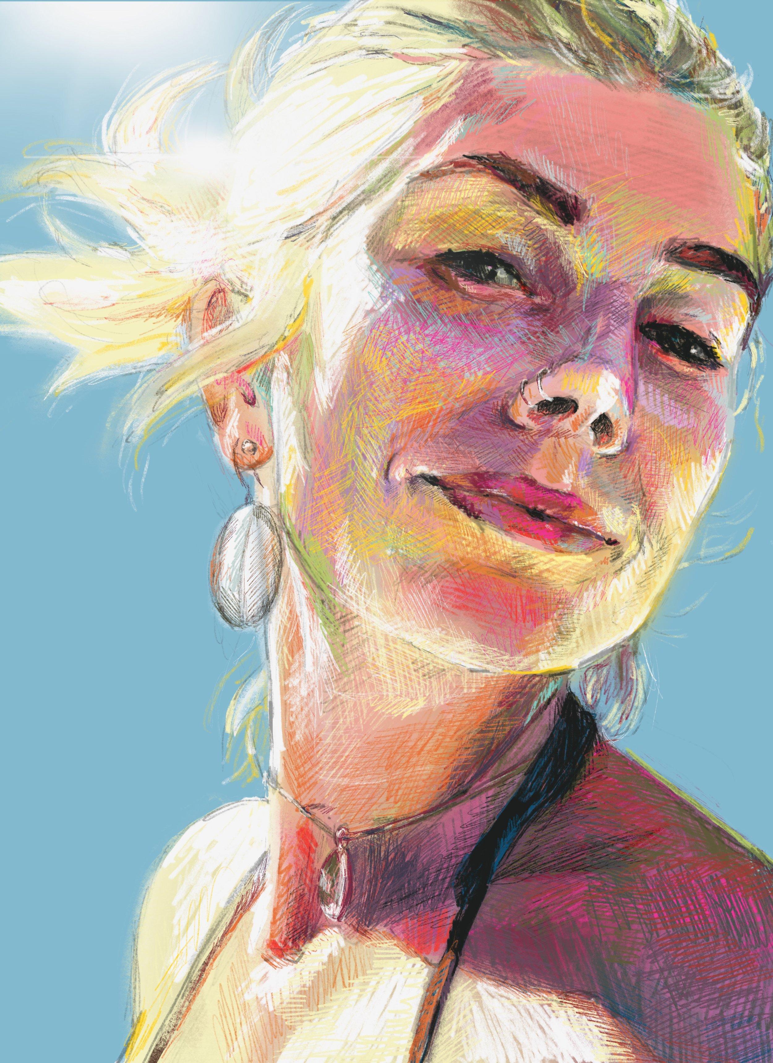 faith dartily portrait artist color palette