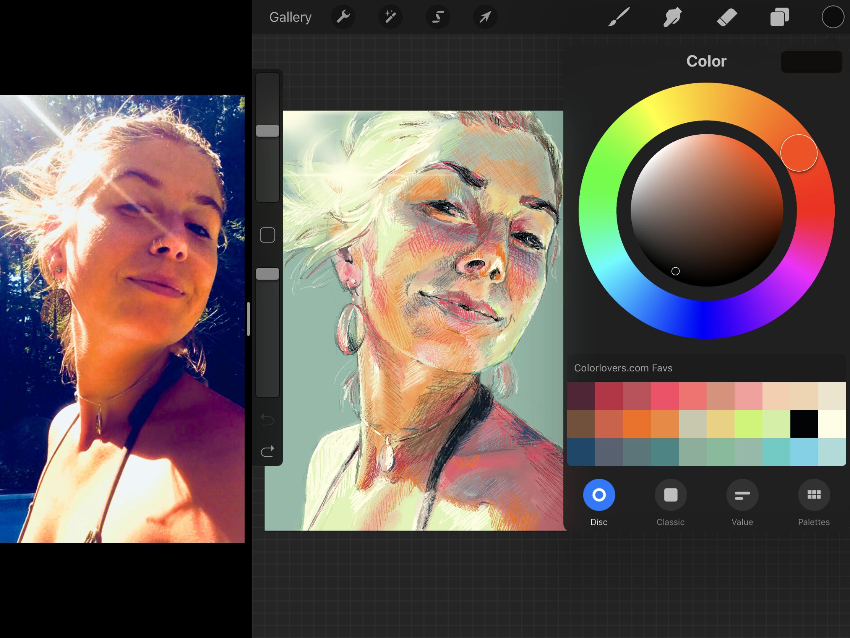 faith artist portrait artist color palette