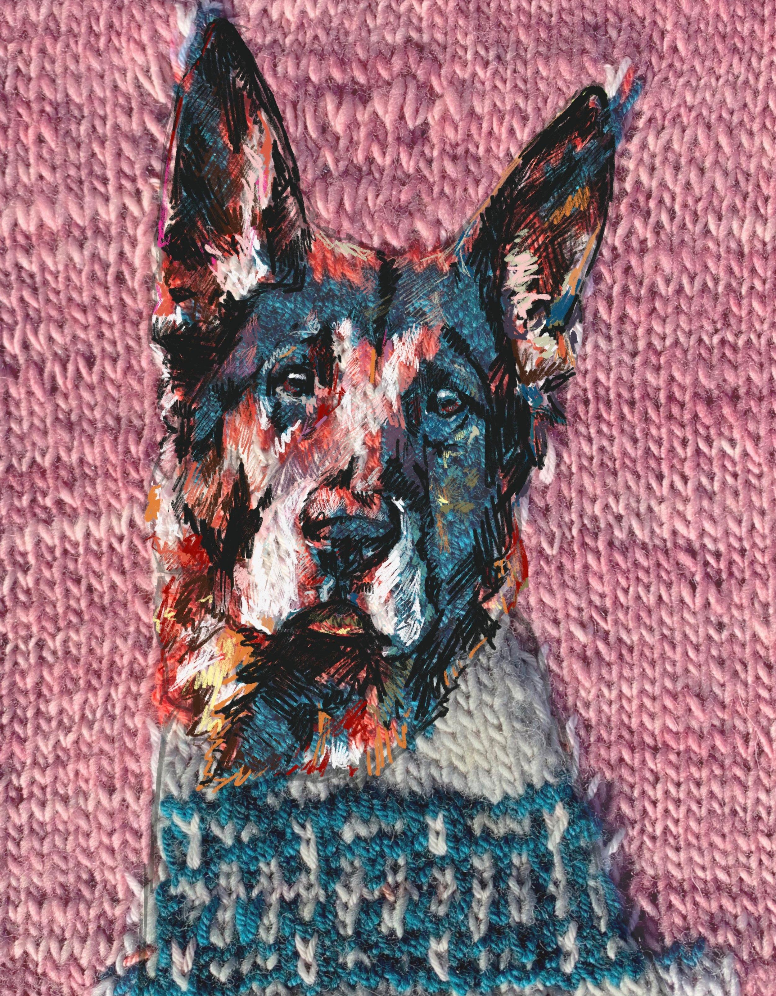 german+shepherd+knit+painting.jpg
