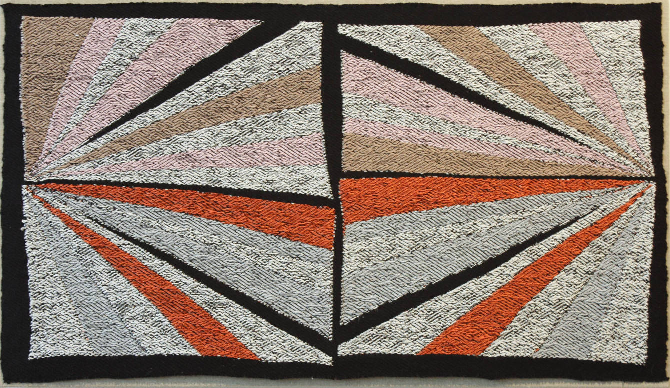 Diverging Lines in Pink- Brown- White- Orange- and Grey- 2011- 16 x 27.5_2x.jpg