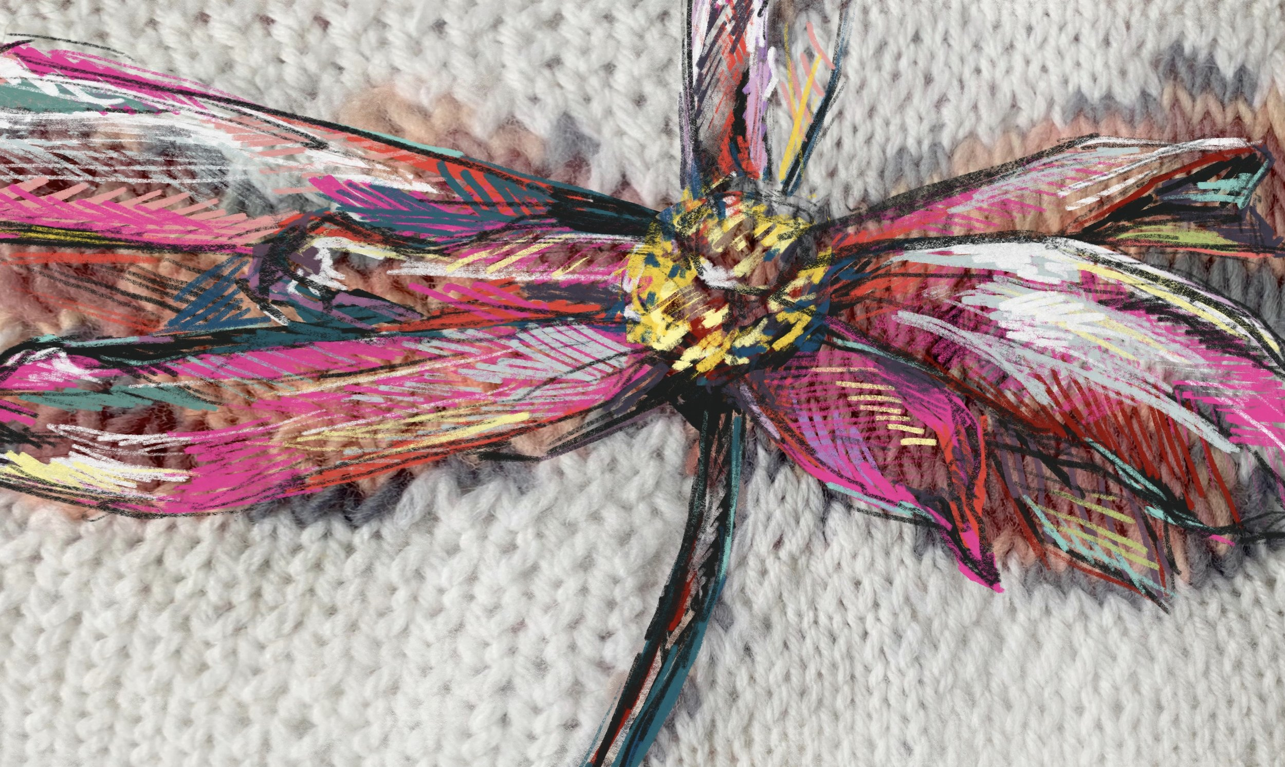 faith flower illustration knit print.jpg