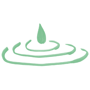 Illustration of a water drop with ripples