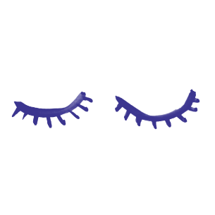 Illustration of two eyes closed