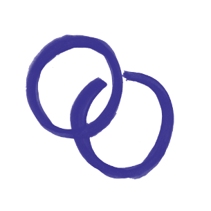 Illustration of two rings overlapping