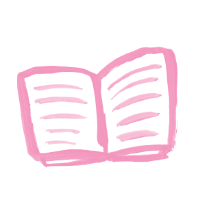 Illustration of a book open to pages