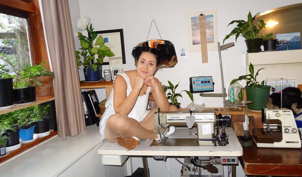 Hortense in her Wellington workroom