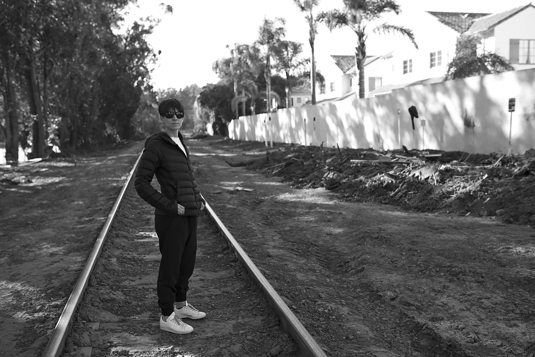 Lisa Field captured me on a walk on the train tracks in Montecito weeks after the mudslides.