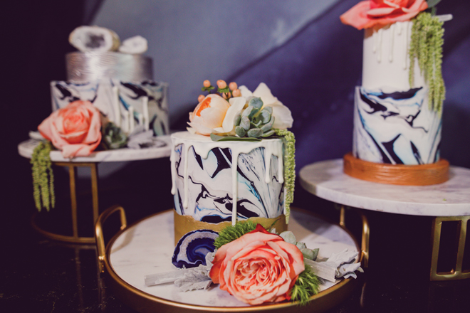 modern wedding cakes marble cakes