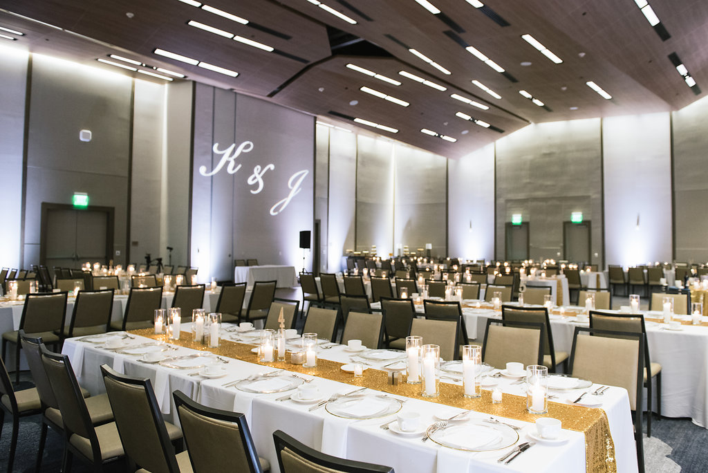 modern indoor wedding reception corporate dinner event
