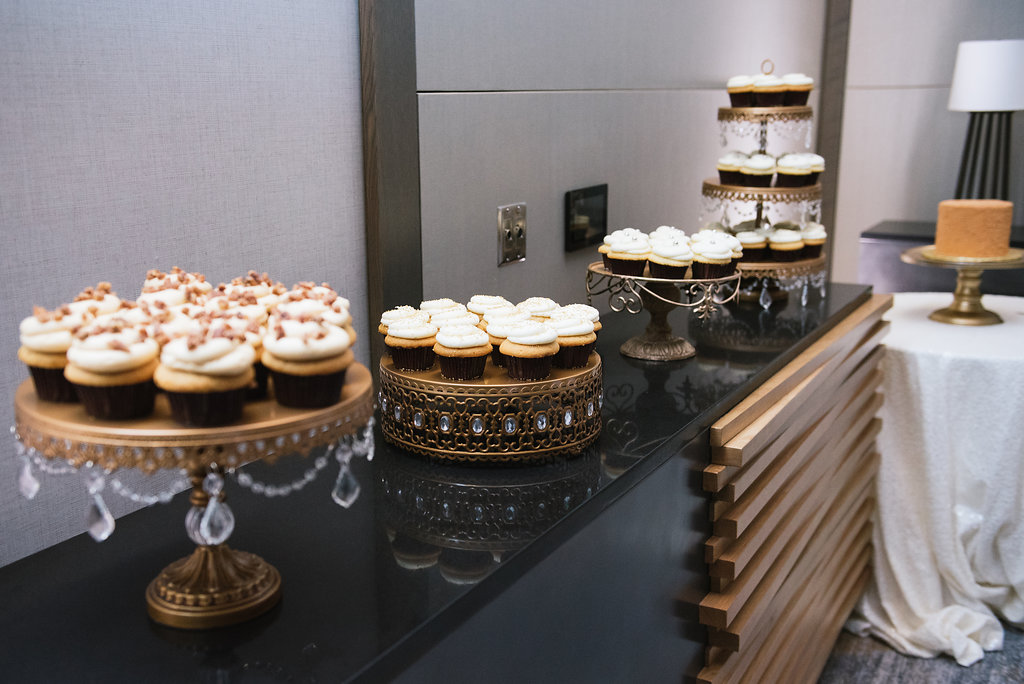 modern dessert display table