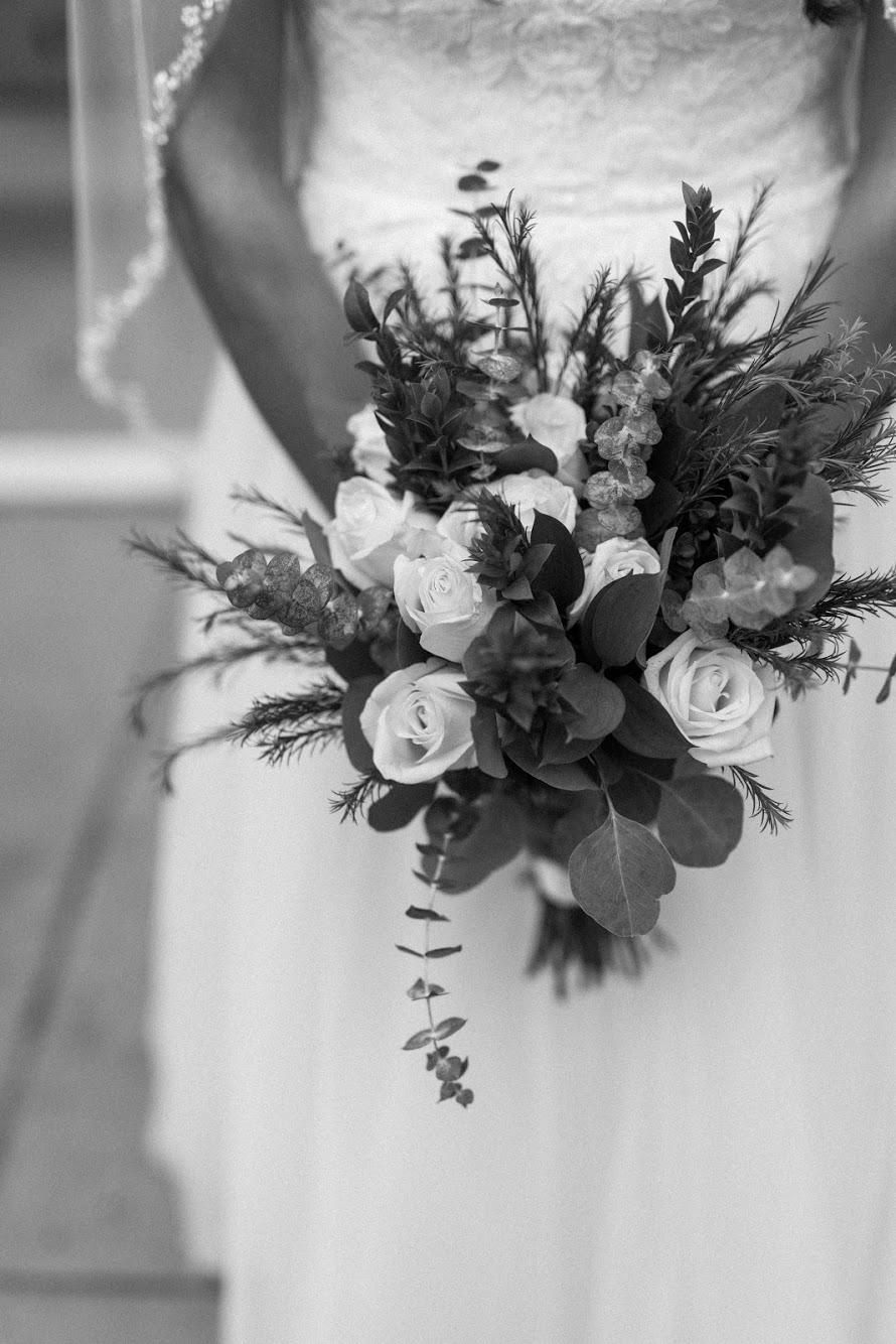 boho glam wedding flowers