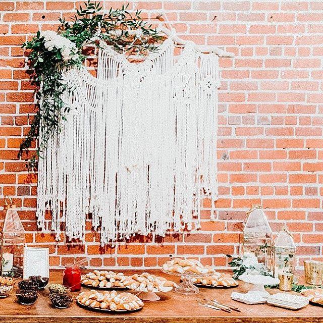This cannoli bar though...👊🏻 Event Production + Design | @danielleroeevents  Bride + Groom | @wengerwifey  Venue | @beatnikstudios  Photographer | @sandrey_photography  Linens | @cprandtents  Rentals | @standardpartyrentals  Bar | @rpeterscatering  Specialty Decor + Florals | @rodartefloraldesign  Catering | @bellafamiliawfp  #eventdesign #eventinspiration #eventplanning #sanfranciscoeventplanning #napaweddingplanner #tahoeweddingplanner #tahoeevents #eventinspo #sonomawedding #beatnik  #macramebackdrop #cannoli #dessertbar  #brickwall