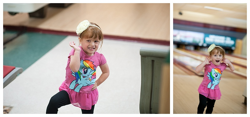We celebrated Betty's 9th birthday with her requested trip to the local bowling alley. Molly was her usual vivacious self
