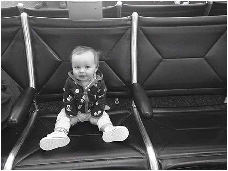 Pickin' up Papa from the airport, lookin' all adorbs.