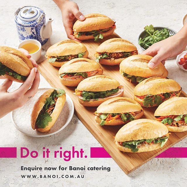 Tame a hangry army with Banoi's mini banh mi rolls! BTW our rolls are baked fresh daily. Do it right! Find out more at www.banoi.com.au 🤤