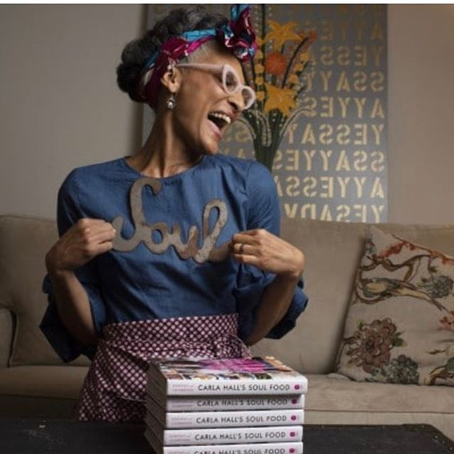 Say YESSS @washingtonpost !! I see my painting back there 😆✨@carlaphall you are a radiant powerhouse of positivity!! Congrats on your amazing new cookbook and this fabulous article in The Washington Post. Y'all check it out...link in bio! . . . . . @chardrucks . #cookbook #washingtonpost #carlahall #foodie #art #artlife #flowers #inversion #read #cook #chef #amazing #yes #ny #newyork #livelife #behappy #happy #laugh #contemporaryart #design #interiordesign #soul