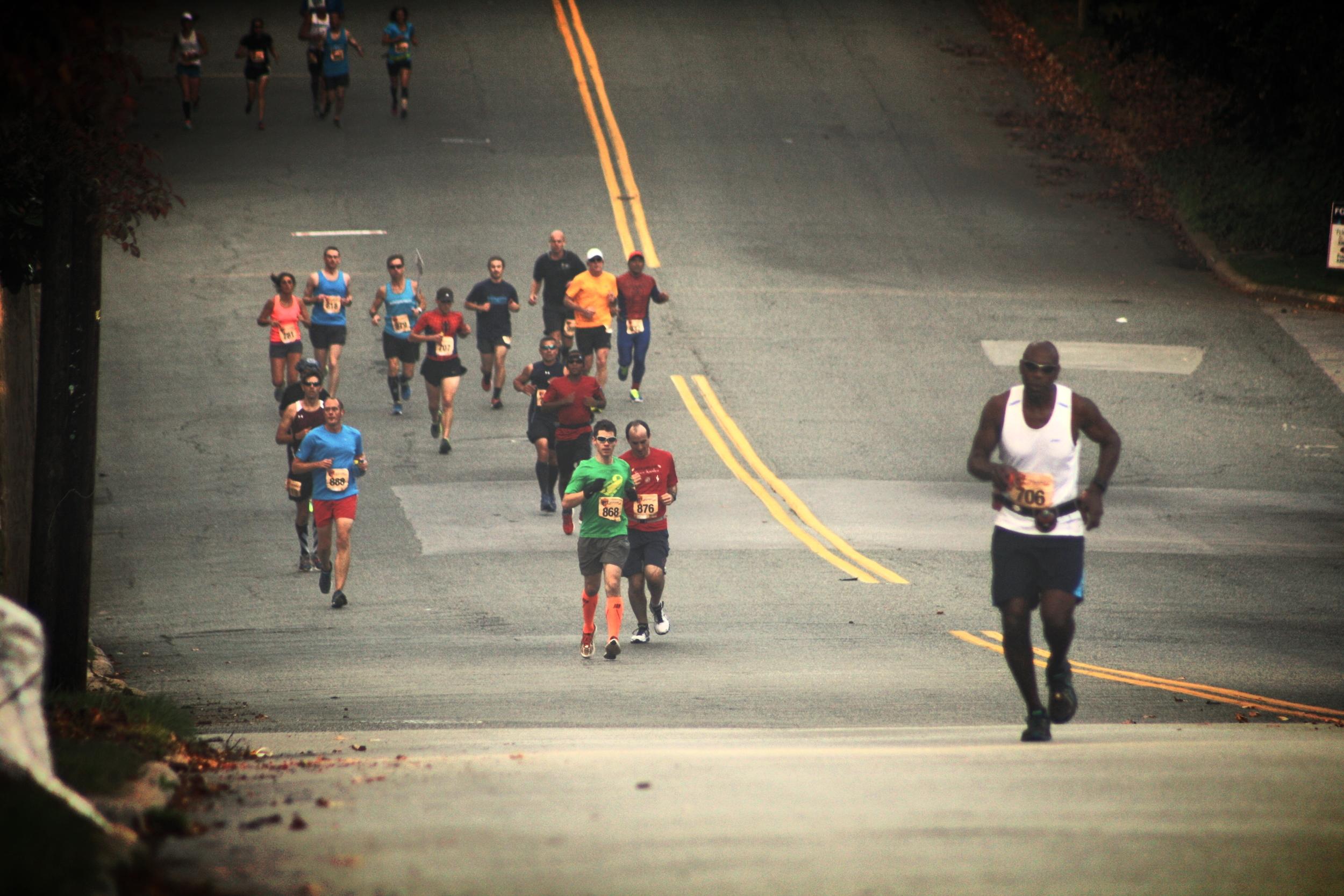 2014 Greensboro Marathon @ mile mark 2