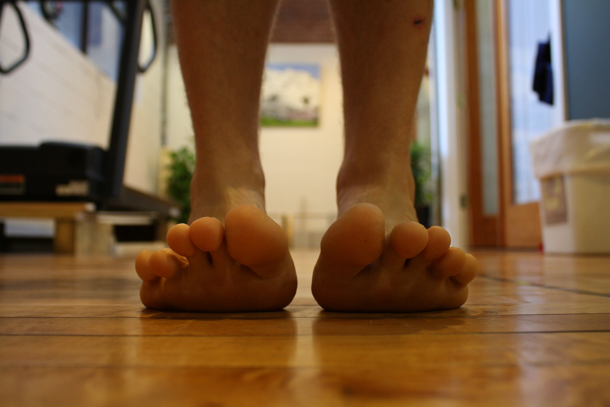 Toe mobility is a good indicator of total system mobility in the arches of the feet. Are you able to maintain this while going into a deep squat?