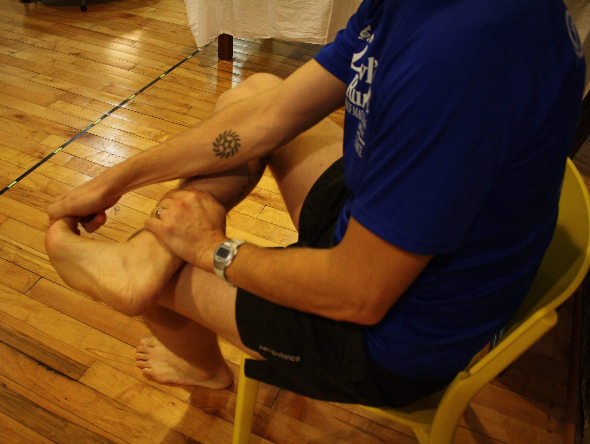 When stretching the toes into extension (dorsiflexion), be sure to maintain the ankle in neutral or slight dorsiflexion as well.