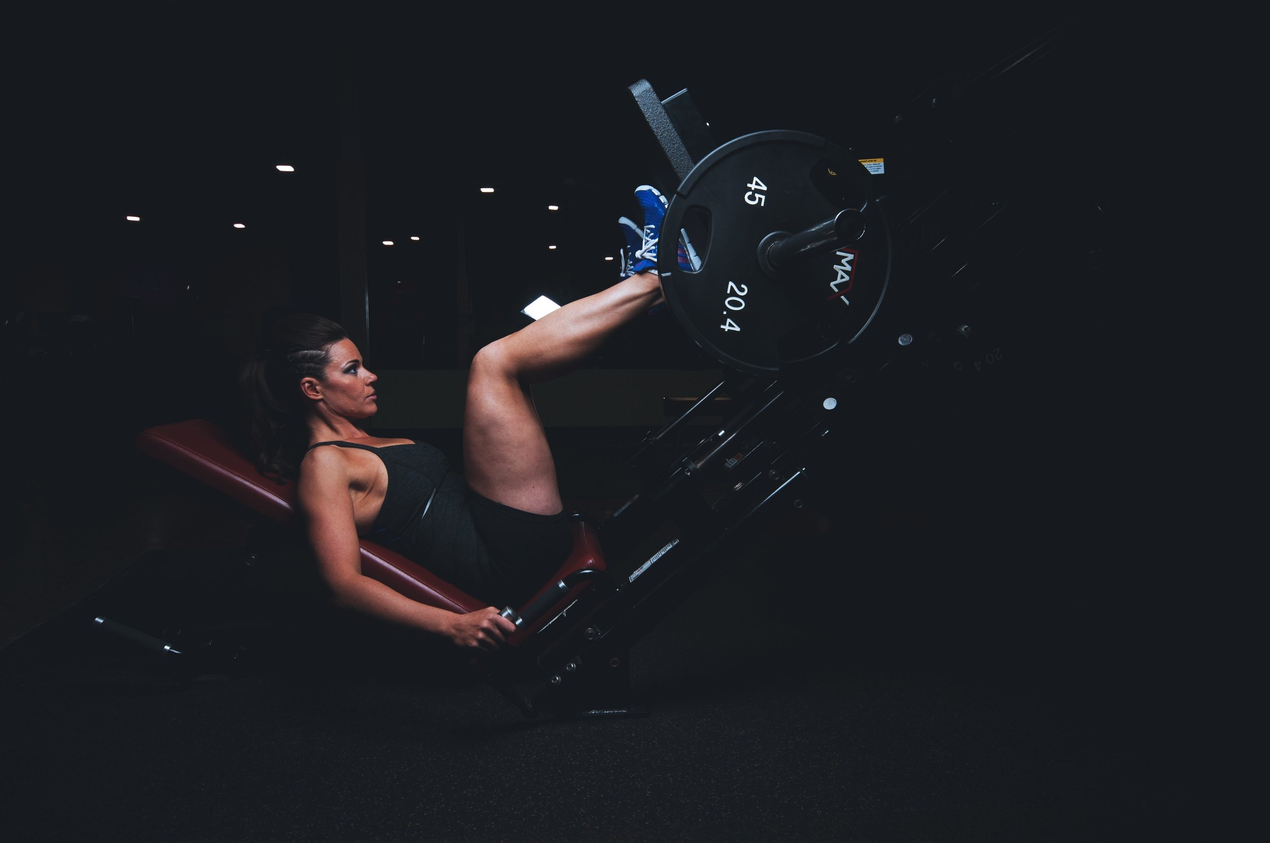 Even if you're not familiar with the leg press, consider it! Its a great way to target glutes, hamstrings, and quads in one fell swoop.