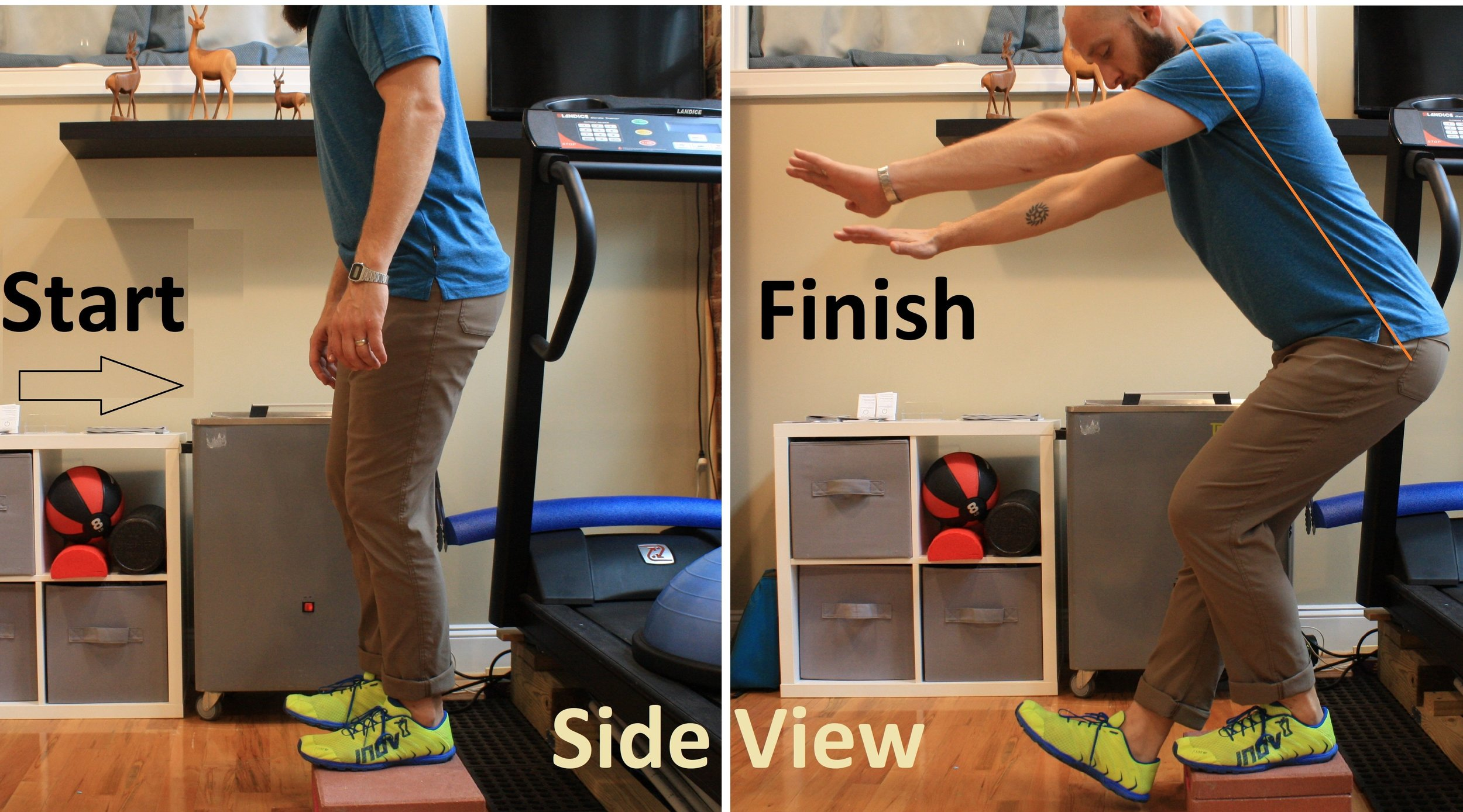 Forward limb single leg squats can better target the quads, but will be more limited by ankle mobility.