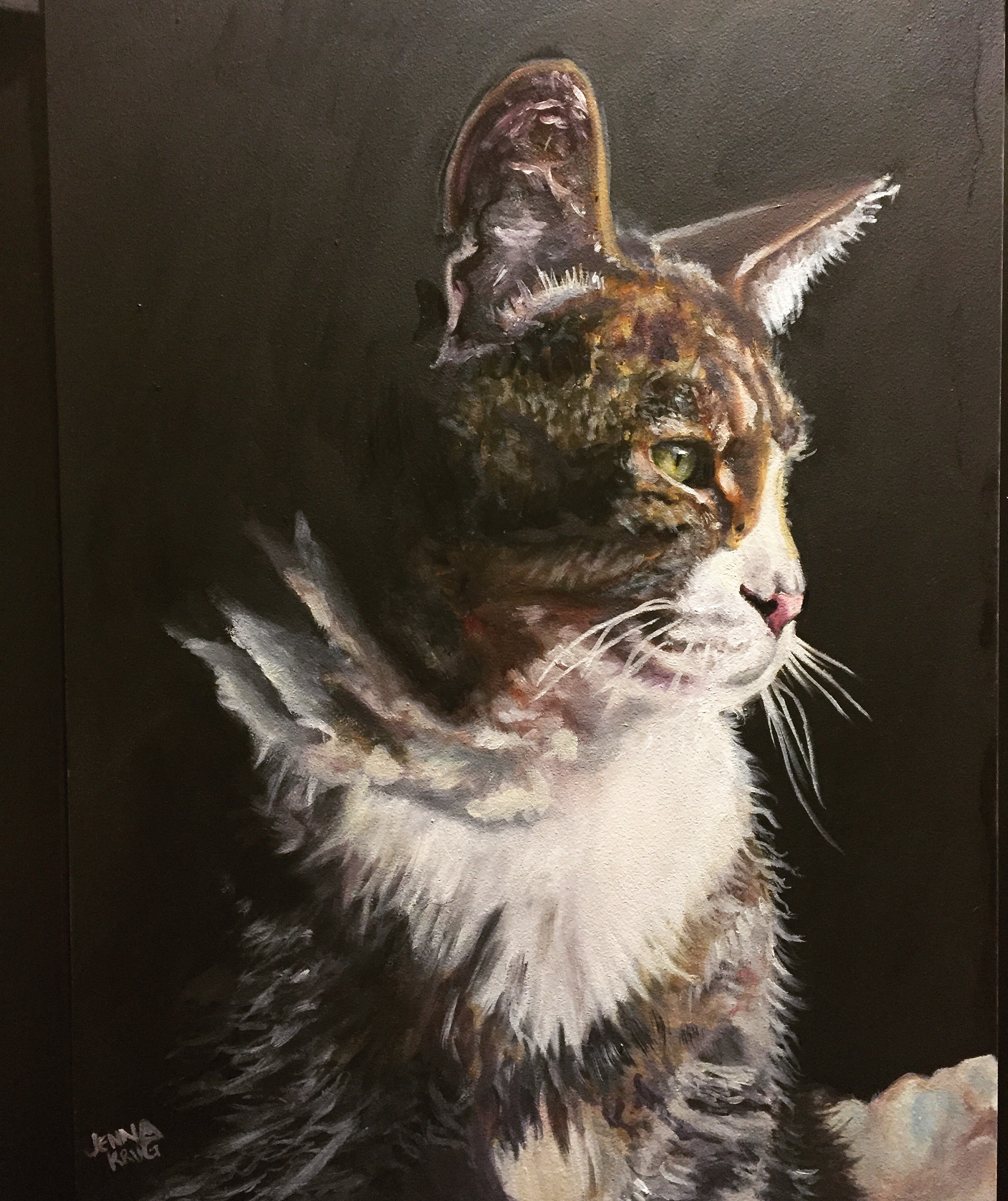 """Shie Family Cat"" - Oil on Canvas, 12x16"""