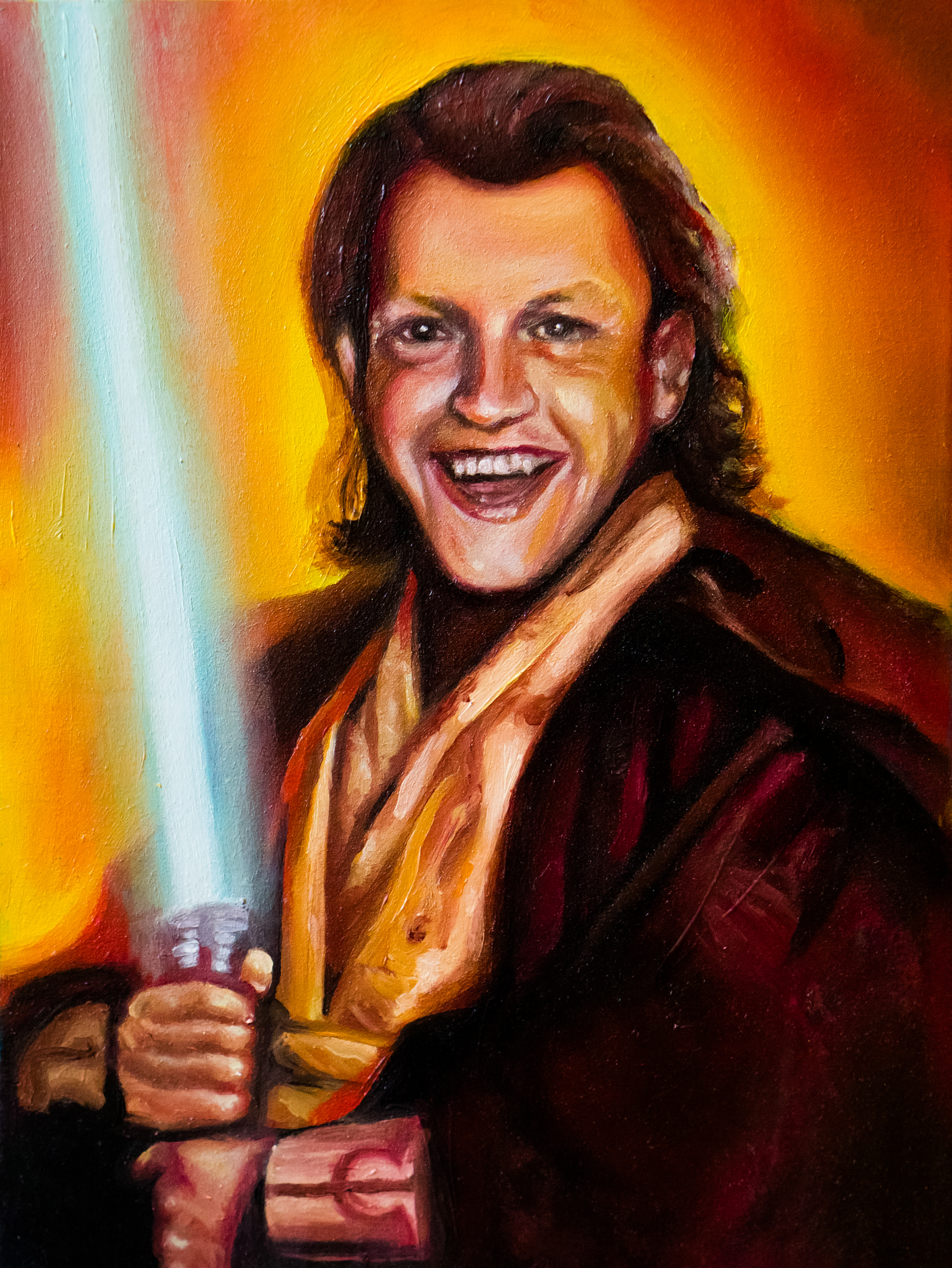"""Zetts Kenobi""- Oil on Wood, 6x8"""