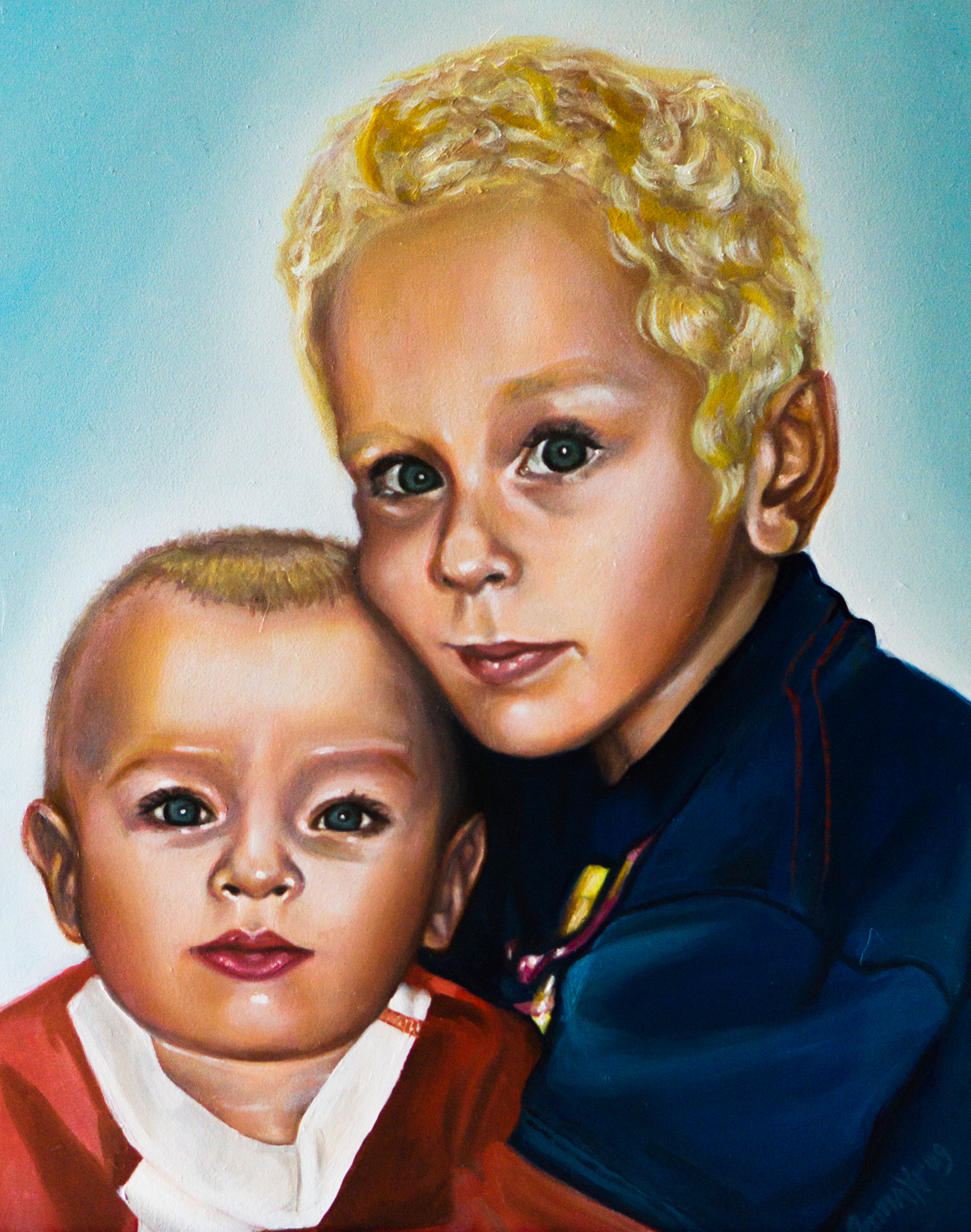 """Karen Kids""- Oil on Gessobord, 12x16"""