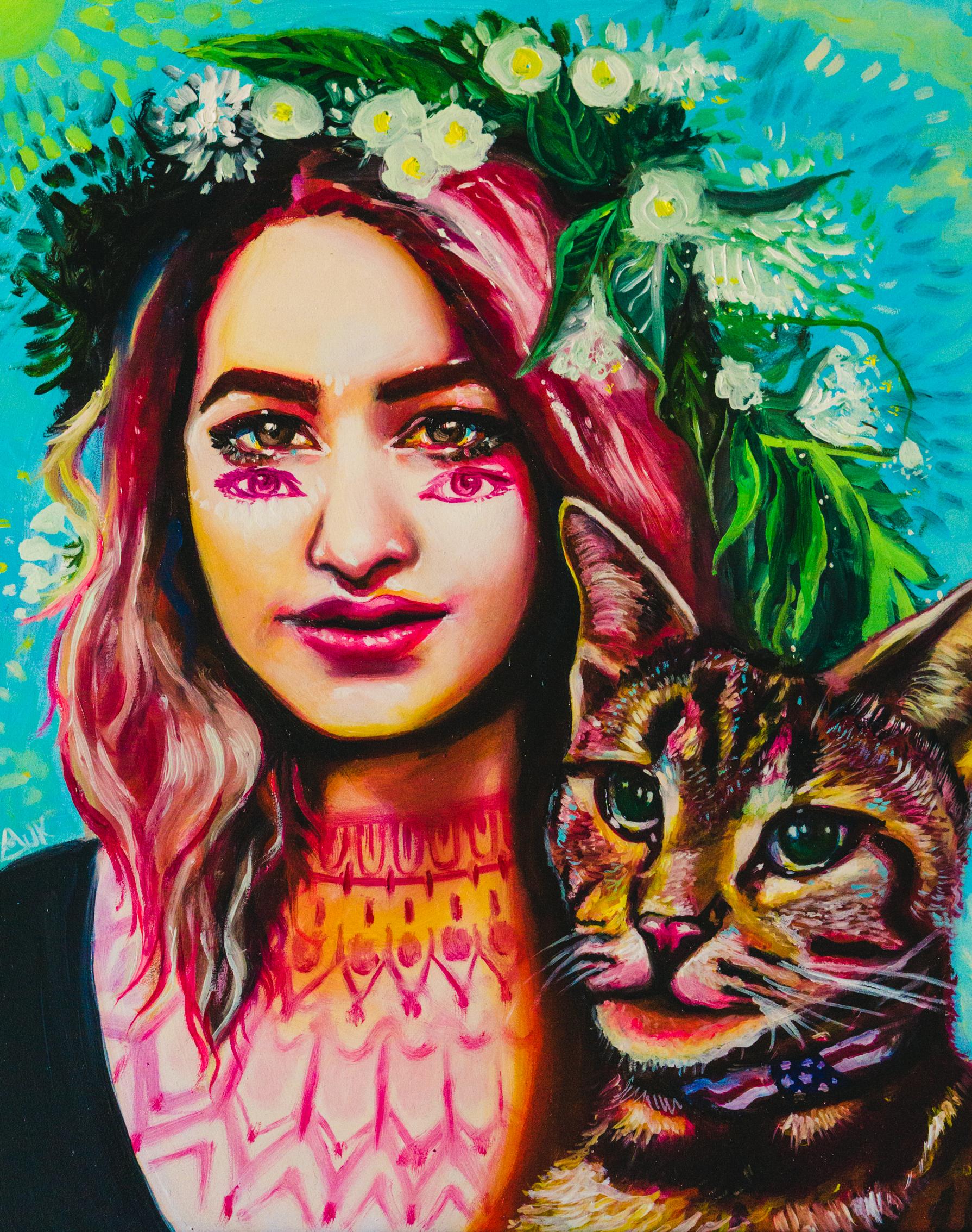 """""""Melissa Olivia"""" - Oil on Gessobord, 11'x14'"""