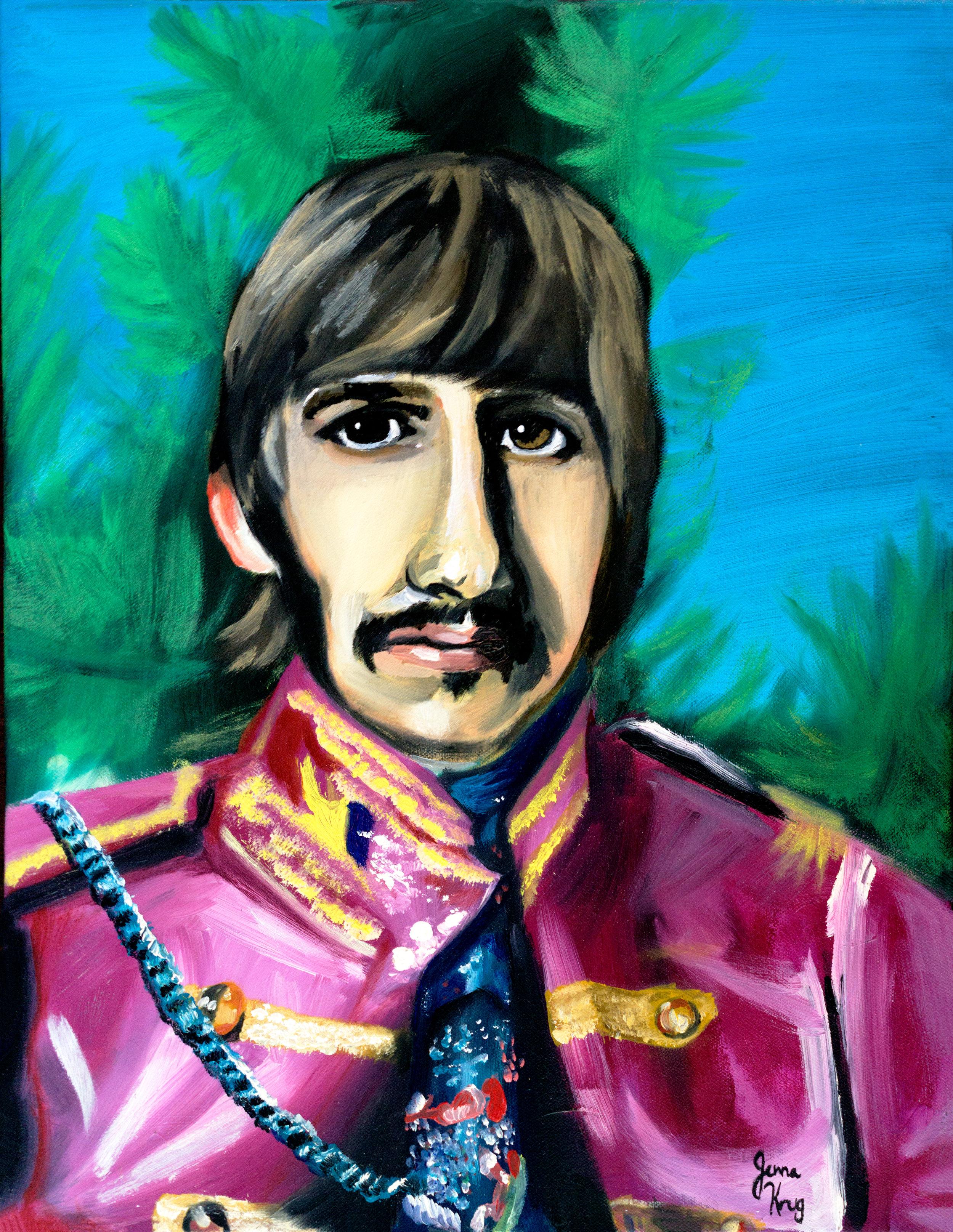 """Ringo"" - Oil on Canvas, 12"" x 16"""