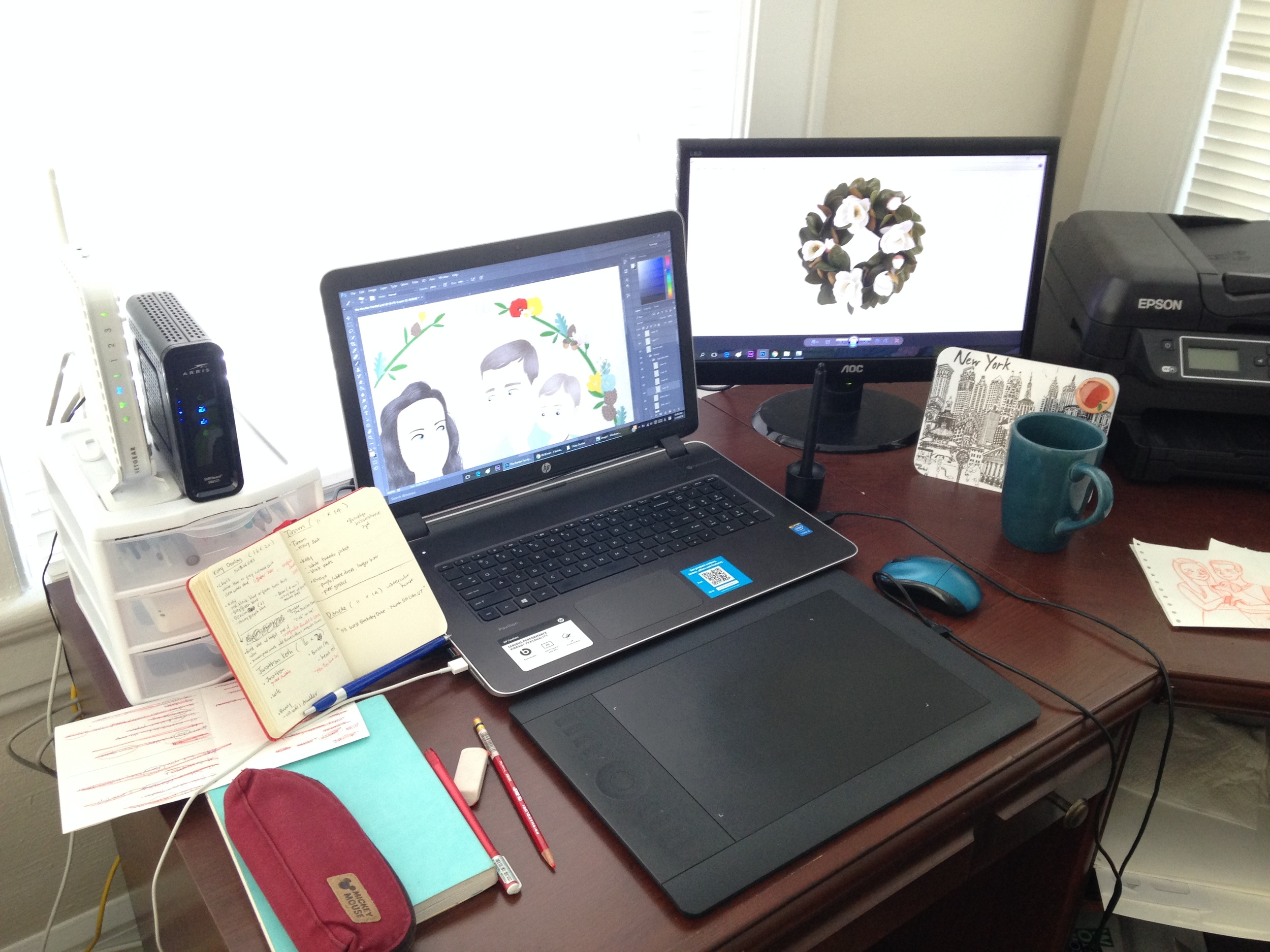 My desk. (p.s.This is the clean & organized version.)