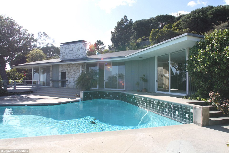 The before: The late President and his wife lived in the modest 4,700-square-foot Mid-Century single story house for three decades and it is where Ronald leant he would be President in 1980