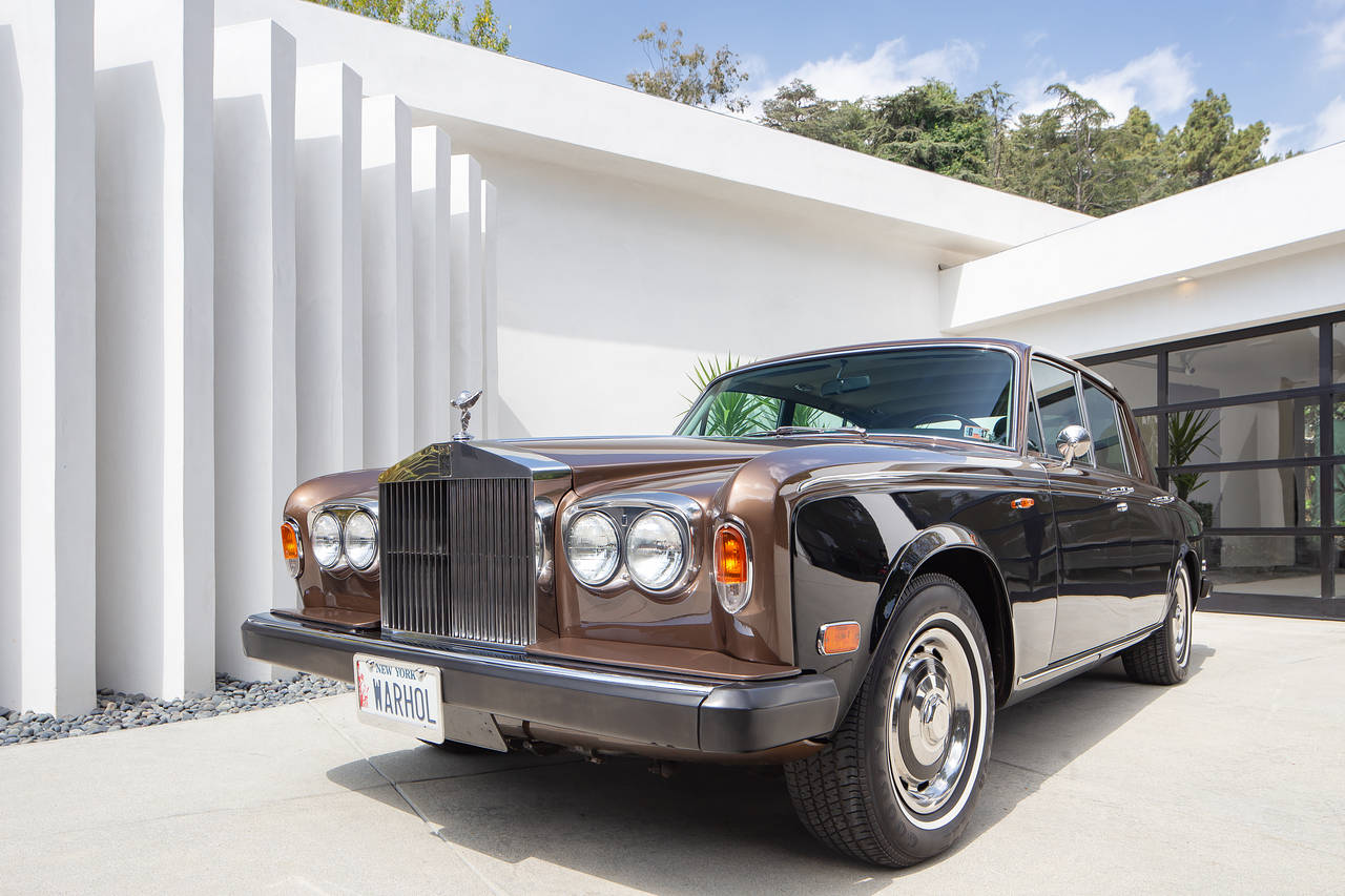 Andy Warhol's 1974, two-toned, Rolls-Royce Shadow can be included in the deal for a new Trousdale spec home that's branded around the artist. PHOTO: DARREN ASAY