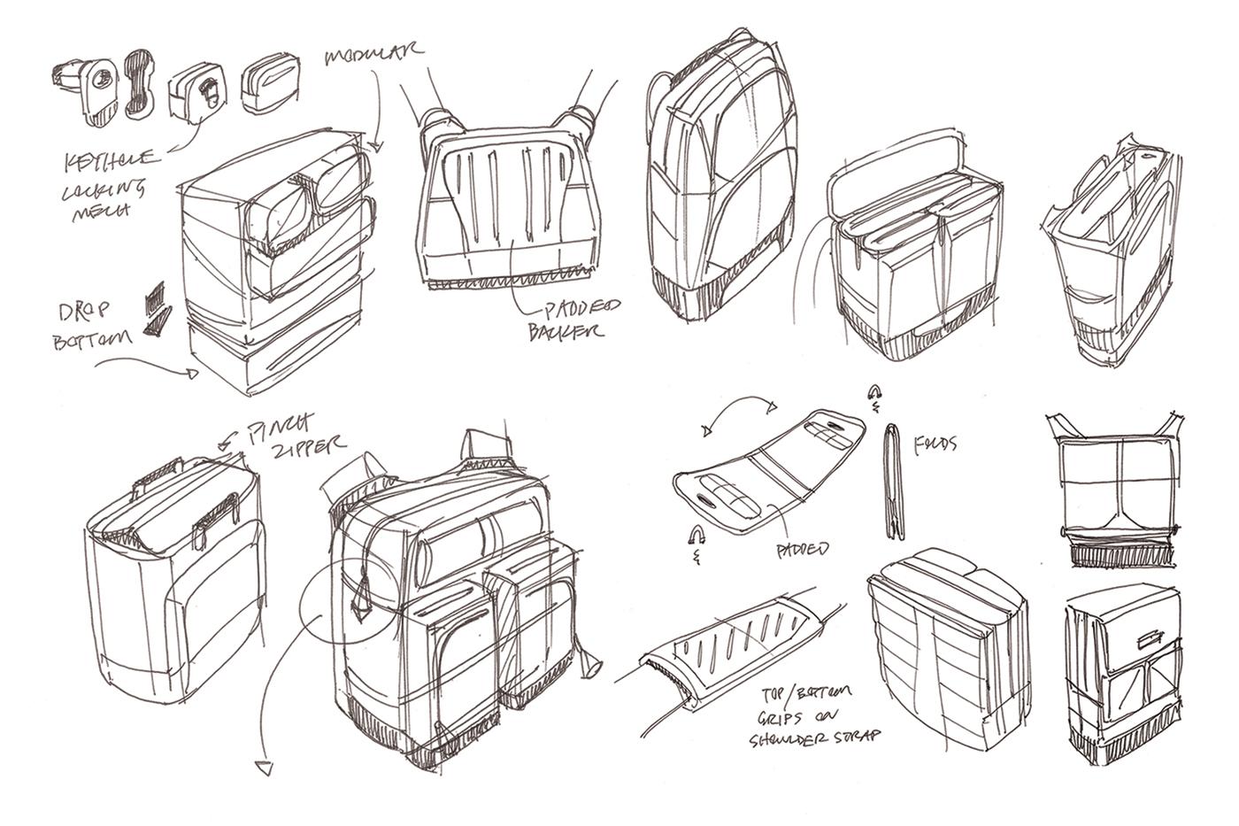 KINBUILT Industrial Design Sketches
